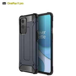 King Kong Armor Premium Shockproof Dual Layer Rugged Hard Cover for OnePlus 9 Pro - Navy