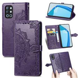 Embossing Imprint Mandala Flower Leather Wallet Case for OnePlus 9R - Purple