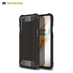 King Kong Armor Premium Shockproof Dual Layer Rugged Hard Cover for OnePlus Nord (OnePlus 8 NORD 5G, OnePlus Z) - Black Gold