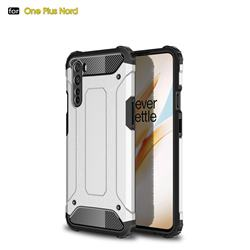 King Kong Armor Premium Shockproof Dual Layer Rugged Hard Cover for OnePlus Nord (OnePlus 8 NORD 5G, OnePlus Z) - White