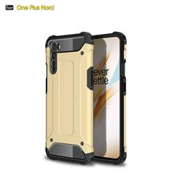 King Kong Armor Premium Shockproof Dual Layer Rugged Hard Cover for OnePlus Nord (OnePlus 8 NORD 5G, OnePlus Z) - Champagne Gold
