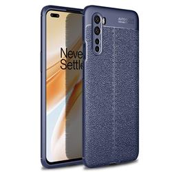 Luxury Auto Focus Litchi Texture Silicone TPU Back Cover for OnePlus Nord (OnePlus 8 NORD 5G, OnePlus Z) - Dark Blue