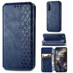 Ultra Slim Fashion Business Card Magnetic Automatic Suction Leather Flip Cover for OnePlus Nord (OnePlus 8 NORD 5G, OnePlus Z) - Dark Blue