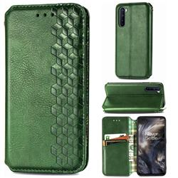 Ultra Slim Fashion Business Card Magnetic Automatic Suction Leather Flip Cover for OnePlus Nord (OnePlus 8 NORD 5G, OnePlus Z) - Green