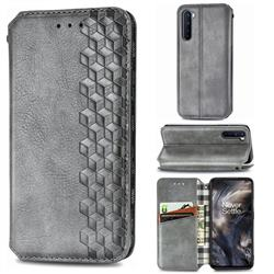 Ultra Slim Fashion Business Card Magnetic Automatic Suction Leather Flip Cover for OnePlus Nord (OnePlus 8 NORD 5G, OnePlus Z) - Grey