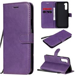 Retro Greek Classic Smooth PU Leather Wallet Phone Case for OnePlus Nord (OnePlus 8 NORD 5G, OnePlus Z) - Purple
