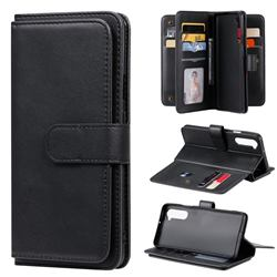 Multi-function Ten Card Slots and Photo Frame PU Leather Wallet Phone Case Cover for OnePlus Nord (OnePlus 8 NORD 5G, OnePlus Z) - Black