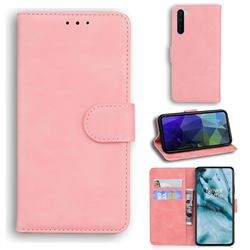Retro Classic Skin Feel Leather Wallet Phone Case for OnePlus Nord (OnePlus 8 NORD 5G, OnePlus Z) - Pink