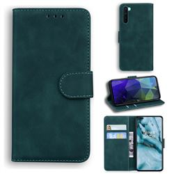 Retro Classic Skin Feel Leather Wallet Phone Case for OnePlus Nord (OnePlus 8 NORD 5G, OnePlus Z) - Green