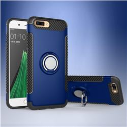 Armor Anti Drop Carbon PC + Silicon Invisible Ring Holder Phone Case for Oppo R11 - Sapphire
