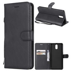 Retro Greek Classic Smooth PU Leather Wallet Phone Case for Oppo R17 - Black