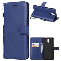 Retro Greek Classic Smooth PU Leather Wallet Phone Case for Oppo R17 - Blue