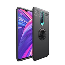 Auto Focus Invisible Ring Holder Soft Phone Case for Oppo R17 Pro - Black