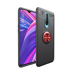 Auto Focus Invisible Ring Holder Soft Phone Case for Oppo R17 Pro - Black Red