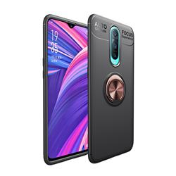 Auto Focus Invisible Ring Holder Soft Phone Case for Oppo R17 Pro - Black Gold