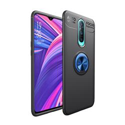 Auto Focus Invisible Ring Holder Soft Phone Case for Oppo R17 Pro - Black Blue