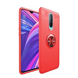 Auto Focus Invisible Ring Holder Soft Phone Case for Oppo R17 Pro - Red