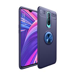 Auto Focus Invisible Ring Holder Soft Phone Case for Oppo R17 Pro - Blue