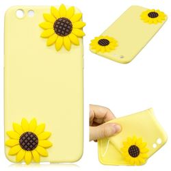 Yellow Sunflower Soft 3D Silicone Case for Oppo R9s