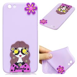 Violet Girl Soft 3D Silicone Case for Oppo R9s