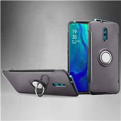 Armor Anti Drop Carbon PC + Silicon Invisible Ring Holder Phone Case for Oppo Reno - Grey