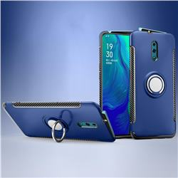 Armor Anti Drop Carbon PC + Silicon Invisible Ring Holder Phone Case for Oppo Reno - Sapphire