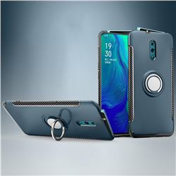 Armor Anti Drop Carbon PC + Silicon Invisible Ring Holder Phone Case for Oppo Reno - Navy
