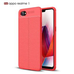 huge selection of a6cfe acec9 Luxury Auto Focus Litchi Texture Silicone TPU Back Cover for Oppo Realme 1  - Red