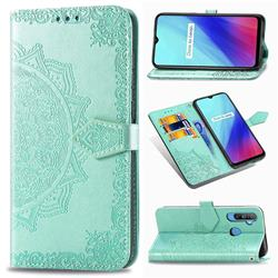 Embossing Imprint Mandala Flower Leather Wallet Case for Oppo Realme C3 - Green