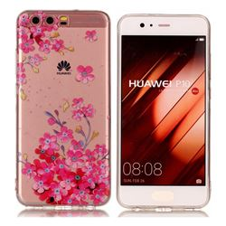 Plum Blossom Bloom Super Clear Soft TPU Back Cover for Huawei P10