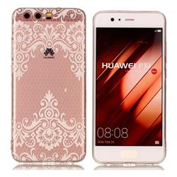 Diagonal Lace Super Clear Soft TPU Back Cover for Huawei P10