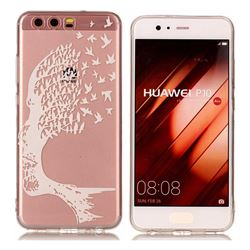 Bird Skull Face Super Clear Soft TPU Back Cover for Huawei P10