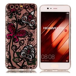 Butterfly Flowers Super Clear Soft TPU Back Cover for Huawei P10