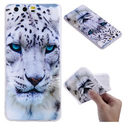 White Leopard 3D Relief Matte Soft TPU Back Cover for Huawei P10