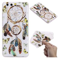 Color Wind Chimes 3D Relief Matte Soft TPU Back Cover for Huawei P10
