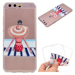 Beach Chair Girl Super Clear Soft TPU Back Cover for Huawei P10