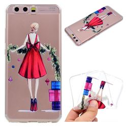 Christmas Girl Super Clear Soft TPU Back Cover for Huawei P10