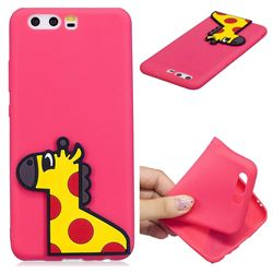 Yellow Giraffe Soft 3D Silicone Case for Huawei P10