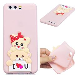 Love Bear Soft 3D Silicone Case for Huawei P10