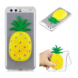 Yellow Pineapple Liquid Quicksand Soft 3D Cartoon Case for Huawei P10