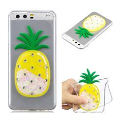 White Pineapple Liquid Quicksand Soft 3D Cartoon Case for Huawei P10