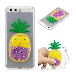 Purple Pineapple Liquid Quicksand Soft 3D Cartoon Case for Huawei P10