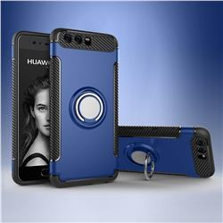 Armor Anti Drop Carbon PC + Silicon Invisible Ring Holder Phone Case for Huawei P10 - Sapphire