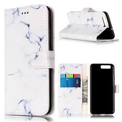 Soft White Marble PU Leather Wallet Case for Huawei P10