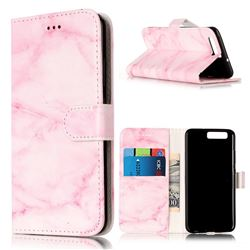 Pink Marble PU Leather Wallet Case for Huawei P10