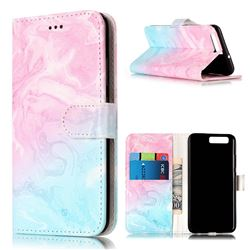 Pink Green Marble PU Leather Wallet Case for Huawei P10