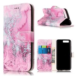 Pink Seawater PU Leather Wallet Case for Huawei P10