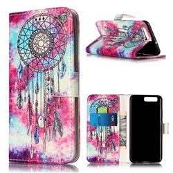 Butterfly Chimes PU Leather Wallet Case for Huawei P10