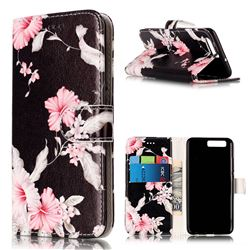 Azalea Flower PU Leather Wallet Case for Huawei P10
