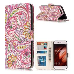 Pepper Flowers 3D Relief Oil PU Leather Wallet Case for Huawei P10